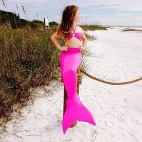 Bikini Traje De Baño Sirena Niña Kids Playa Verano 3a8años
