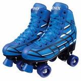 Patins 4 Rodas Clássico Azul Roller Skate 38/39 F