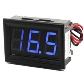 Voltímetro Led Importado De 3 A 30v Display Azul Promoçao