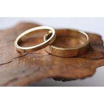 Alianzas Para Casamiento En Oro 18 Kts. 4 Gramos El Par