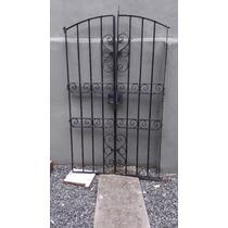 Puerta Reja Artistica Hierro Doble Hoja
