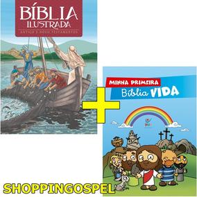 Kit Bíblia Ilustrada Infantil + Minha Primeira Bíblia Vida