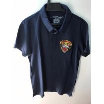 Camisa Gola Polo Ed Hardy Masculina Christian Audigier Navy