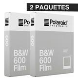 2 Paq Cartuchos Polaroid 600 Byn Instantanea Impossible Proj