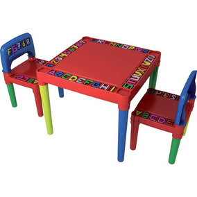 Mesa Plástica Infantil 2 Cadeiras Tritec