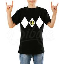 Playera Para Niño Power Ranger Black Varias Tallas