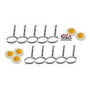 Modelador De Ovos Redondo Aço Inox Profissional Kit Com 10