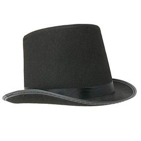 Sombrero De Copa De Fieltro Negro Skeleteen - Sombreros De D ace8ec30d2c