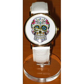 Reloj Con Diseño De Calavera Mexicana