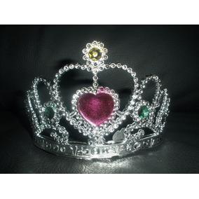 Corona Princesa Reina Diamante Plata Fiesta Barato