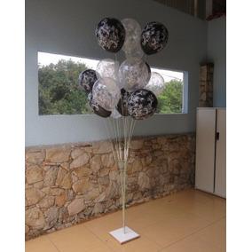 02 Suportes 15 Balões Bexigas 1,80 Metro Altura C/ Movimento
