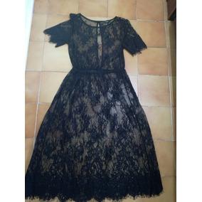 Vestido Encaje Negro F21 Mediano Envío Gratis Limpia De Cel