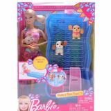 Barbie Pileta Con Cachorros Nadadores Mettel Juguetes Pepona