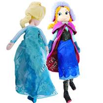 Coleção Bonecas Pelúcia Anna E Elsa Frozen 50 Cm Originais