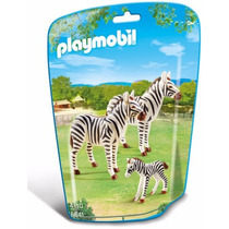 Retromex Playmobil 6641 Cebras Con Crias Zoologico Animal