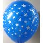 Globos 12 Pulg. Con Estrellas, Colores Surtidos 50 X $ 280
