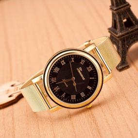 Fashion Women Classic Geneva Quartz Luxury Stainless Steel