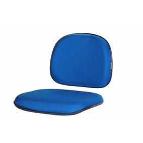 Conjunto Assento Encosto Cadeira Secretária Fixa E Giratória