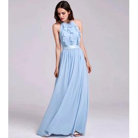 Vestido Azul Serenity Candy Colors 38 P Madrinha Casamento D