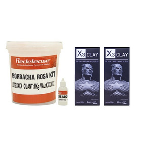 Kit Personalizado Com Borracha, Massas Oil Clay E Caliper