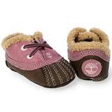 Original Timberland Mallard Bebe Piel Rosa Cafe Crib Zapatos
