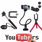 Mini Tripé Flexível Chamada De Vídeo Gravação Kit Youtuber