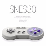 Controle 8bitdo Snes30 Bluetooth E Usb Android Ios Pc