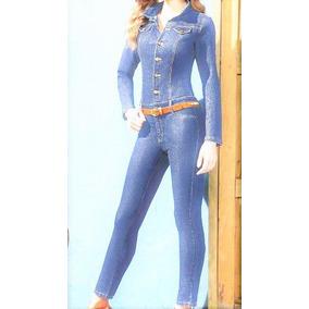 Palazzo Jumper Jumpsuit Traje Jeans En Mezclilla Azul Claro