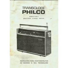 Esquema Transglobe Philco B 481 - 482 Calibragem E Concerto