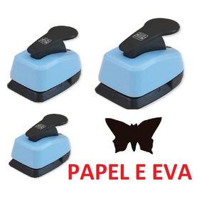 3 Cortador Furador Eva Papel Borboleta - 16mm + 38mm + 50mm
