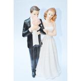 Bonecos De Casamento Enfeite De Bolo Noiva Buque Casal D62