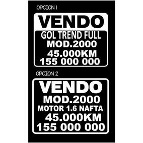 Cartel Calco Sticker Vendo Auto X 3!!!!