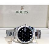 Rolex Date Aço Modelo Novo , 34mm , Black Dial , Top!