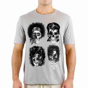 Camisa Camiseta Lendas Do Rock Caveiras