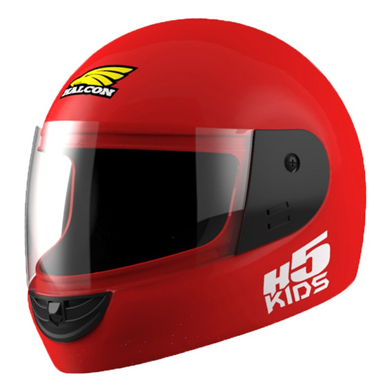 Casco Moto Ni?o Halcon  H5 Kids Integral Rojo Tienda Oficial