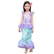 Disfraz Para Niña Cola Niños Princesa Sirena Del Mono De Le