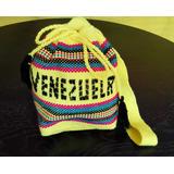 Bolso Guajiro Tejido Venezuela Artesanía Indígena Wayuu
