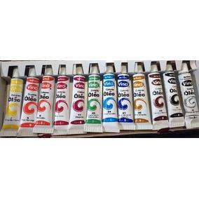 Set De 12 Pinturas Al Oleo Para Cuadros O Pintacaritas