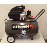 Compresor De Aire 100 Litros 2.5hp 2 Salidas Lowen Regulador