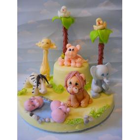 Adorno De Torta Animalitos Cumpleaños Bautismo Primer Año
