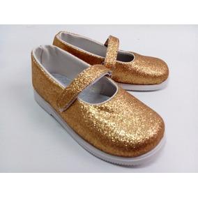 Guillerminas Niñas Sandalias Nena Fiesta Glitter Negro Oro