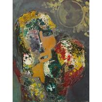 Anonimo / Rostros Abstracto / Oleo / 40 X 50 # 1545