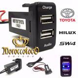 Ficha Audio Cargador Usb Tablero Toyota Hilux Sw4 Importada