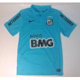 0fc28371520bc Camisa Santos Fc 2012 100 Anos Azul Nike Original - Futebol no ...