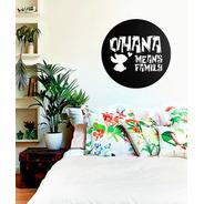 Quadro Decorativo Parede Escultura Ohana Lilo Stitch 60cm