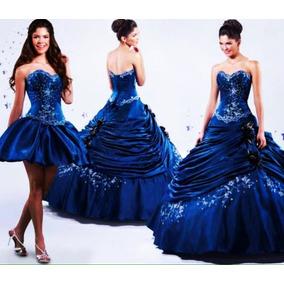 Vestido Xv Años Color Azul Tornasol