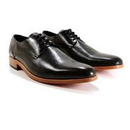 Zapato Hombre Cuero Vacuno Negro Diseño Maurizio By Ghilardi