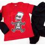 Bart simpson esqueleto rojo