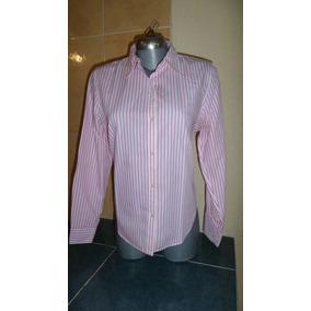 Camisa Chaps By Ralph Lauren Dama Rosa Libre Planchado Teflo