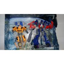 Carro/robô Transformers Optimus Prime E Bumblebee 2 Em 1.